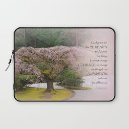 Serenity Prayer Cherry Tree One Laptop Sleeve