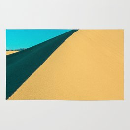 death valley line and flow Rug