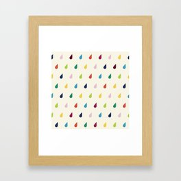 Raindrops Framed Art Print