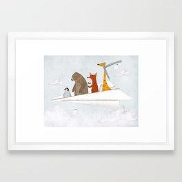 plane sailing Framed Art Print