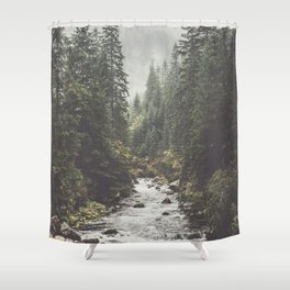 Mountain creek - Landscape and Nature Photography Shower Curtain