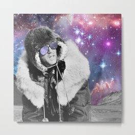 People of the Universe-Space Glasses-Purple Metal Print