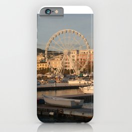 Italy : Ferris wheel for the Luci d'Artista 2018, Christmas lights show in Salerno, December 2018 iPhone Case