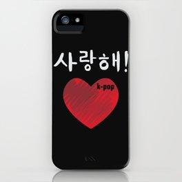 Saranghae (I love you) Hangul iPhone Case
