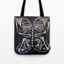 Butterfly Skeleton Tote Bag