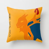 charizard Throw Pillows featuring 006 Charizard by AuroraDrops