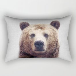 Bear - Colorful Rectangular Pillow