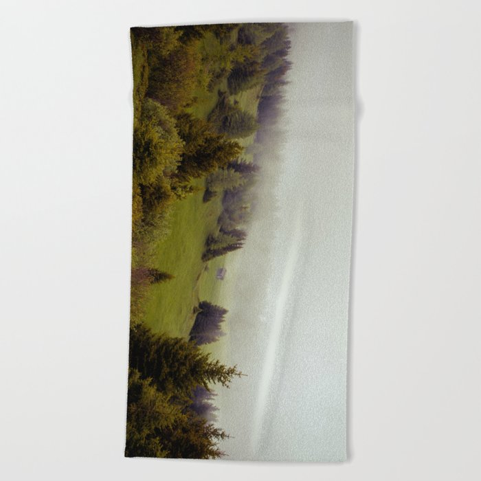 Misty Forest Beach Towel