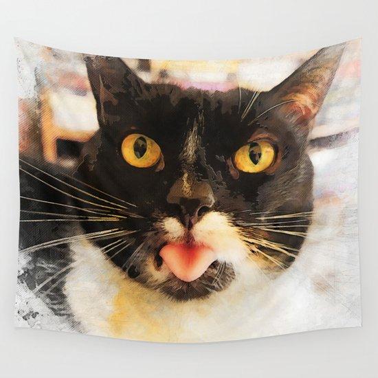 cat Jagoda kiss Wall Tapestry