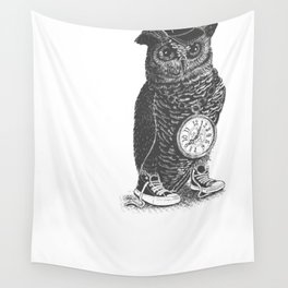 Owl Skool Wall Tapestry