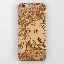 Ganesha Lineart Scroll iPhone Skin