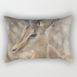 Common Impala Head and Horn Shot Rectangular Pillow