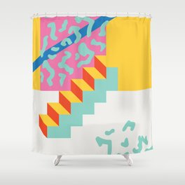 Steps to paradise Shower Curtain