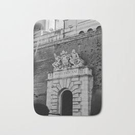 Walking trough the entrance of The Vatican City, Italy | On vacation in Rome | Travel and food photography Bath Mat