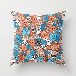 plushies retro Throw Pillow