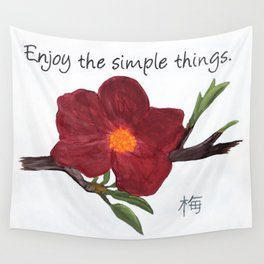Enjoy the Simple Things Wall Tapestry