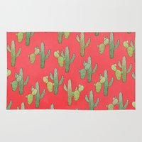 cacti Area & Throw Rugs featuring Cacti by Megan Dignan