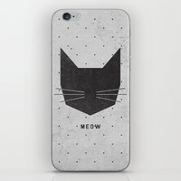 faces iPhone & iPod Skins featuring MEOW by Wesley Bird
