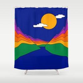 Rainbow Ravine Shower Curtain
