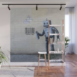 Banksy Robot (Coney Island, NYC) Wall Mural
