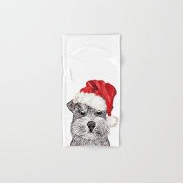Christmas Schnauzer Hand & Bath Towel