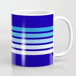 Retro Stripes on Blue Coffee Mug