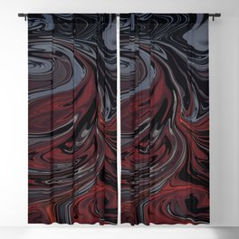 Grey & Red Abstract Painting Blackout Curtain