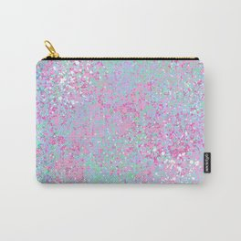Abstract pink teal turquoise white watercolor splatters Carry-All Pouch