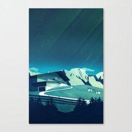 Alpine Hut Canvas Print