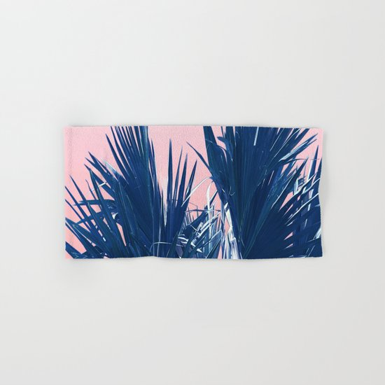 Pink Palm Twist Hand & Bath Towel