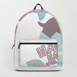 Easter April Fool's Day Hippopotamus Egg Easter Funny Backpack