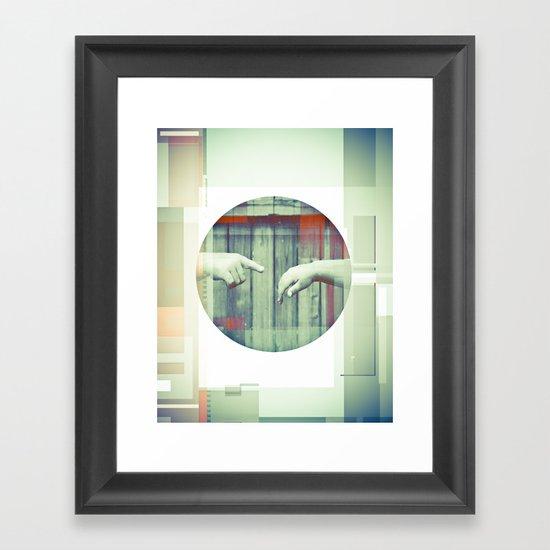 Two Points Framed Art Print