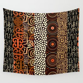 Geometric African Pattern Wall Tapestry