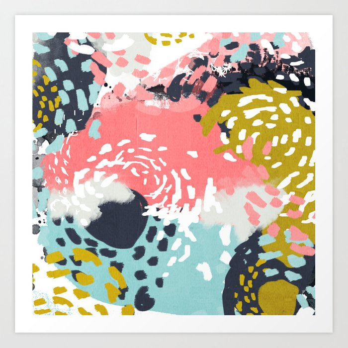 Athena Abstract Painting Hipster Home Decor Trendy Color Palette Art Gifts Art Print By Charlottewinter