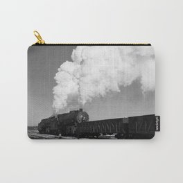 Locomotive In Rail Yard - Chicago - 1942 Carry-All Pouch