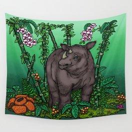 Sumatran Rhino Wall Tapestry
