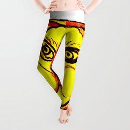 Yellow Sun Mandala Leggings
