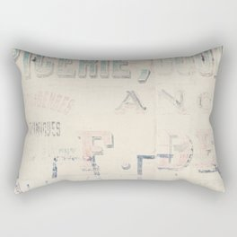 the writing on the wall ... Rectangular Pillow