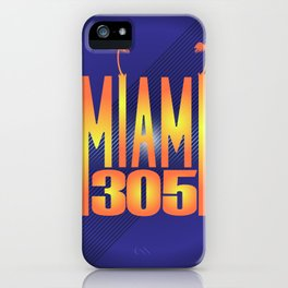 Miami   305 iPhone Case