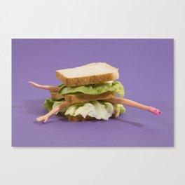 Ultraviolet Sandwich Doll Canvas Print