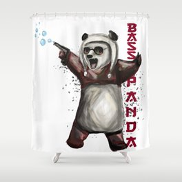 Bass Panda Shower Curtain