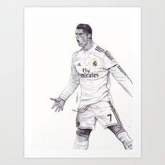 CR7 Drawing Art Print