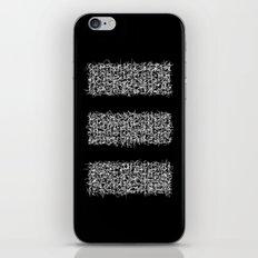 tri black iPhone & iPod Skin