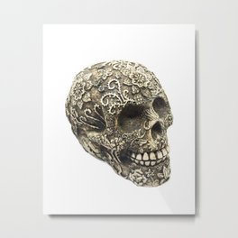 Mexican Skull Metal Print