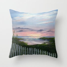 Niki's Beach Throw Pillow