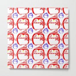 Penguin Pattern 1 Metal Print