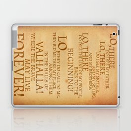 Viking Prayer Laptop & iPad Skin