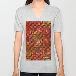 Abstract red 238 Unisex V-Neck