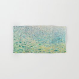 Island in the Attersee Gustav by Klimt Date 1902 // Abstract Oil Painting Water Horizon Scene Hand & Bath Towel