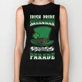Irish Pride Savannah St. Patricks Day Parade Top Hat Biker Tank